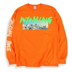 "KANYE WEST - Camiseta Manga Longa Wyoming ""Orange"""