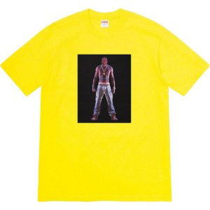 "SUPREME - Camiseta Tupac Hologram ""Yellow"""
