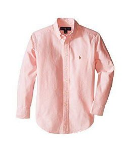 "POLO RALPH LAUREN - Camisa Kids ""Rosa"" (Infantil) -USADO-"