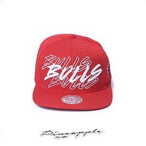"""MITCHELL & NESS - Boné NBA Racing TC Bulls """"Red/White"""""""