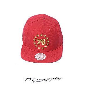 "MITCHELL & NESS - Boné Team Gold Stars 76 ""Vermelho"" -NOVO-"