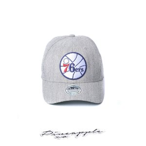 "MITCHELL & NESS - Boné NBA Team 76ers Flexfit Fitted ""Grey"""