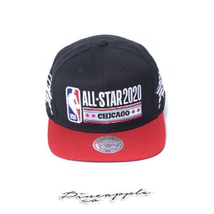 "MITCHELL & NESS - Boné NBA Side Stars All Star Chicago ""Preto/Vermelho"" -NOVO-"