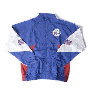 """MITCHELL & NESS - Jaqueta Side Logo 76ers """"Azul/ Vermelho/ Branco"""" -NOVO-"""