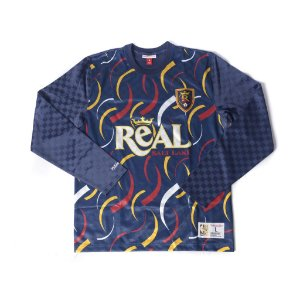 "MITCHELL & NESS - Camiseta Manga Longa Real Salt Lake ""Marinho/Multicolor"" -NOVO-"