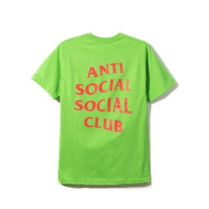 "ANTI SOCIAL SOCIAL CLUB - Camiseta Signs ""Verde Neon"" -NOVO-"