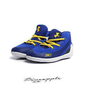 "Under Armour Stephen Curry 3 ""Blue/Yellow"" (Infantil) -USADO-"