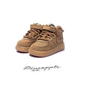 "Nike Air Force 1 Mid ""Flax"" (Infantil) -NOVO-"