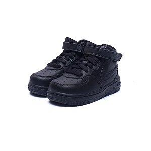 """NIKE - Air Force 1 Mid """"Black"""" (Infantil) -NOVO-"""