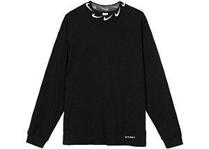 "NIKE x STUSSY - Camiseta Manga Longa NRG BR Knit ""Preto"" -NOVO-"