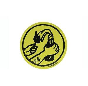 "SUPREME - Adesivo SS18 Molotov ""Verde Neon"" -NOVO-"