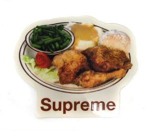 SUPREME - Adesivo SS18 Chicken Food Dinner Plate