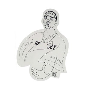 "SUPREME - Adesivo SS18 Mobb Deep Cartoon ""Branco"" -NOVO-"