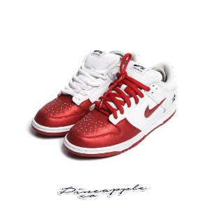 "NIKE x SUPREME - SB Dunk Low Jewel Swoosh ""Red"" -USADO-"