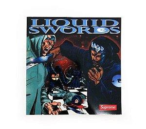 SUPREME - Adesivo FW18 GZA Rapper Liquid Swords -NOVO-