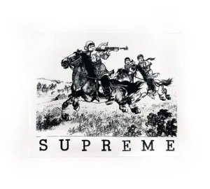 "SUPREME - Adesivo SS19 Riders Cowboy ""Branco"" -NOVO-"