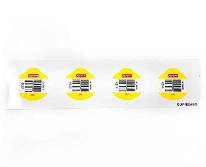 "SUPREME - Adesivo SS19 Fruit Barcode ""Amarelo"" -NOVO-"