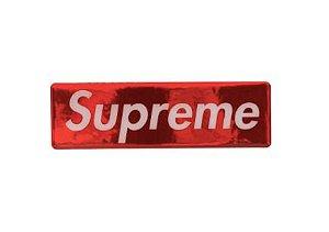 "SUPREME - Adesivo Box Logo 2017 Plastic ""Vermelho"" -NOVO-"