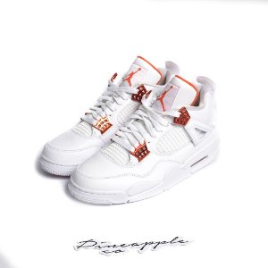 "NIKE - Air Jordan 4 Retro ""Metallic Orange"" -NOVO-"