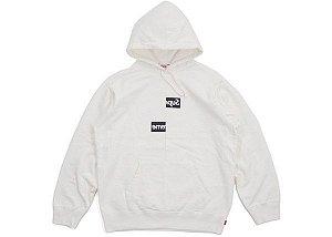 "SUPREME x Comme des Garçons - Moletom Box Logo Split ""White"" -USADO-"