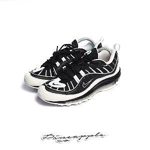 """Nike Air Max 98 """"White/Black"""" -NOVO-"""