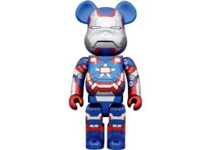 "MEDICOM TOY x BEARBRICK - Boneco 400% ""Iron Man 3 Patriot"" -NOVO-"
