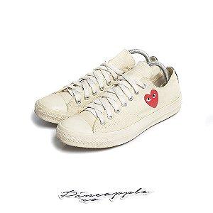 "Converse Chuck Taylor All Star Ox x Comme des Garçons ""Milk"" -USADO-"