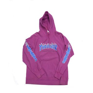 "SUPREME x THRASHER - Moletom Logo Flame ""Purple"" -USADO-"
