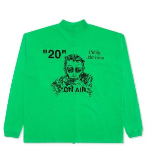 "OFF-WHITE - Camiseta Manga Longa Mirko Artist Over Mock ""Green"""