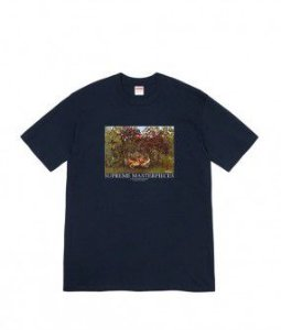 "SUPREME - Camiseta Masterpieces ""Navy"""