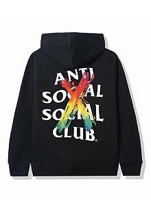 "ANTI SOCIAL SOCIAL CLUB - Moletom Cancelled Rainbow ""Black"""