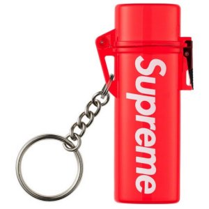 "SUPREME  - Chaveiro Waterproof Lighter Case ""Red"""