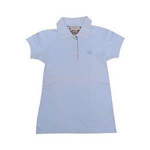 """BURBERRY -  Camisa Polo """"Azul Claro"""" (Infantil) -USADO-"""