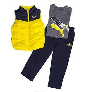 "PUMA - Conjunto ""Navy/Yellow"" (Infantil)"
