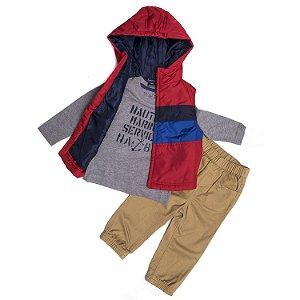 "NAUTICA - Conjunto Marine Service ""Red/Grey/Beige"" (Infantil)"
