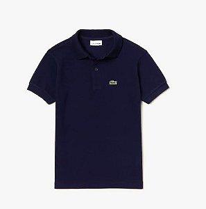 """LACOSTE - Camisa Polo Classic Piqué """"Azul Marinho"""" (Infantil) -NOVO-"""