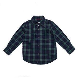 "CARTER'S - Camisa Xadrez Manga Longa ""Green/Blue"" (Infantil)"