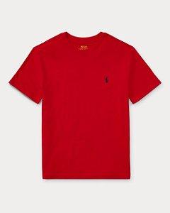 "POLO RALPH LAUREN - Camiseta Jersey Crewneck Juvenil ""Vermelho"" (Infantil) -NOVO-"