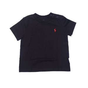 "POLO RALPH LAUREN - Camiseta Jersey Crewneck Baby ""Preto"" (Infantil) -NOVO-"