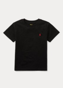 "POLO RALPH LAUREN - Camiseta Jersey Crewneck Kids ""Preto"" (Infantil) -NOVO-"
