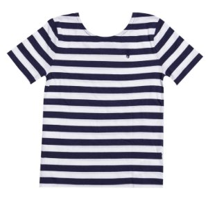 """POLO RALPH LAUREN - Camiseta Stripe """"Navy"""" (Infantil)"""