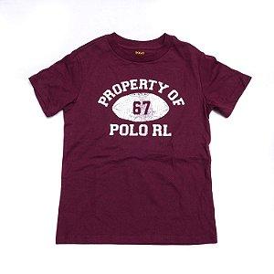 "POLO RALPH LAUREN - Camiseta Property Of ""Burgundy"" (Infantil)"