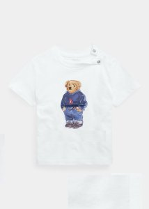 "POLO RALPH LAUREN - Camiseta Polo Bear Sweater Baby ""Branco"" (infantil) -NOVO-"