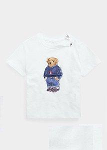 "POLO RALPH LAUREN - Camiseta Polo Bear Sweater Baby ""Branco"" (infantil) -NOVO-"
