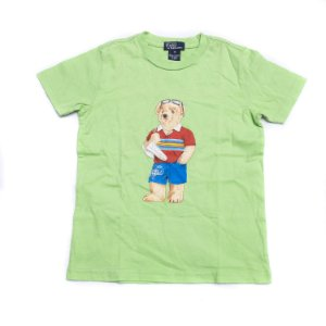 """POLO RALPH LAUREN - Camiseta Polo Bear Summer Kids """"Verde"""" (Infantil) -NOVO-"""