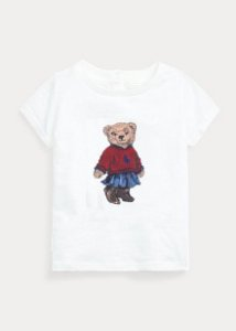 "POLO RALPH LAUREN - Camiseta Polo Bear Skirt Baby ""Branco"" (Infantil) -NOVO-"