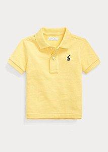 """POLO RALPH LAUREN - Camisa Polo Cotton Mesh Baby """"Amarelo"""" (Infantil) -NOVO-"""