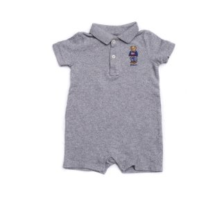"POLO RALPH LAUREN - Macacão Polo Bear Cotton Baby ""Grey"" (Infantil)"