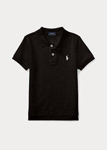 """POLO RALPH LAUREN - Camisa Polo Cotton Mesh Kids """"Black"""" (Infantil)"""