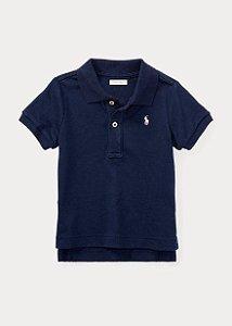 "POLO RALPH LAUREN - Camisa Polo Cotton Mesh Kids ""Marinho"" (Infantil) -NOVO-"